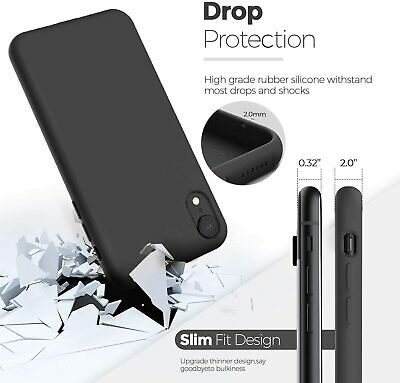 Details about  Shockproof Liquid Silicone Case Cover For iPhone XR X XS MAX Soft Ultra Slim