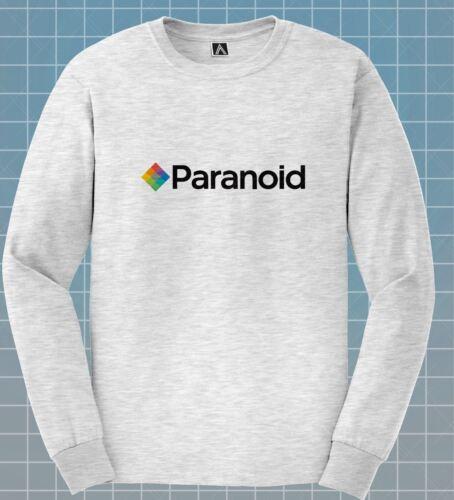 Paranoïaque T-shirt à manches longues à Appareil Photo Instantané Parodie T-Shirt Drôle Selfie Logo Haut