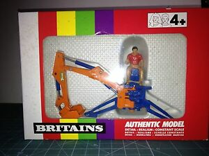 BRITAINS-1-32-REAR-MOUNTED-DIGGER-9536-VER-FOTO