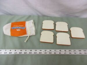 Fisher-Price-Fun-with-Food-Kitchen-Lunch-Bread-Sandwich-Bread-Bag-Wheat-Loaf-Toy