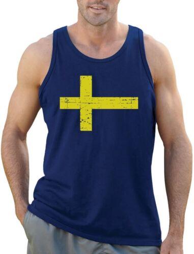 Sweden Flag Vintage Style Retro Swedish Singlet Gift Idea