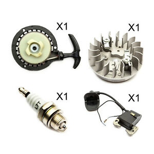Mini-Moto-Pull-Start-Black-amp-Ignition-Coil-amp-Spark-Plug-Flywheel-Quad-Bike-Dirt