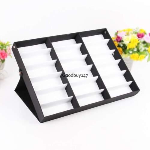 18 Grid Storage Display Case Box for Eyeglass Sunglasses Glasses LARGE Holder