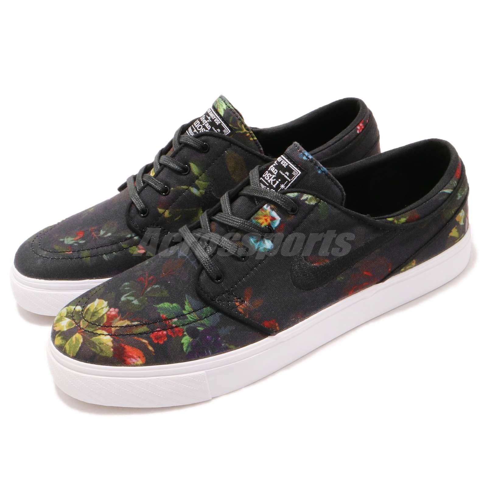 Nike SB Zoom Stefan Janoski Canvas Noir Floral Skateboarding Chaussures 615957-900