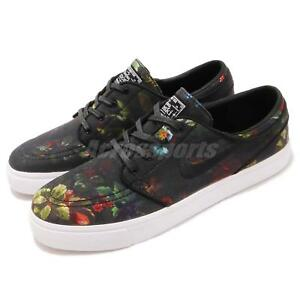 6bd817276db5 Nike SB Zoom Stefan Janoski Canvas Black Floral Skateboarding Shoes ...