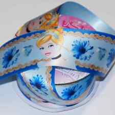 1 Metre Disney Princess Cinderella Hearts 38mm Satin Craft Ribbon