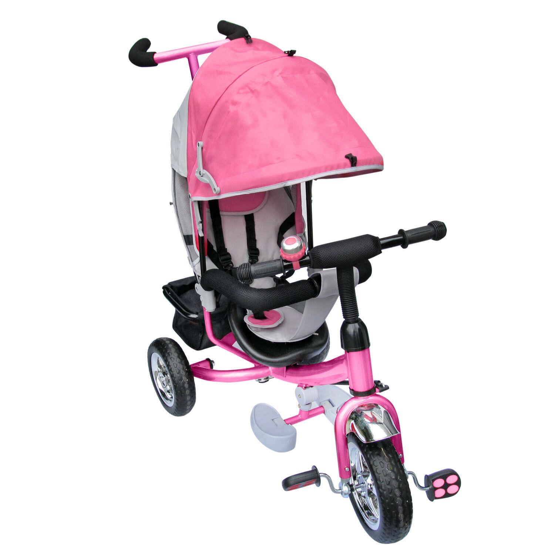 Dreirad Lenkstange mit Dach Kinder 2-5 2-5 2-5 Jahre Fahrrad Rosa 841f9c