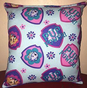 Paw-Patrol-Pillow-Pup-Power-Paw-Patrol-Pillow-Skye-amp-Everest-Handmade-in-USA-Dog