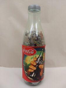 Coca-Cola-Bottle-Bank-w-500-Piece-19-034-Round-Jigsaw-Puzzle-Screw-Off-Bottle-Cap
