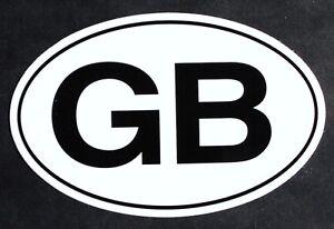 'GB' Euro oval bumper sticker Mini Cooper MG British moto vinyl sports car decal