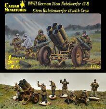 Caesar Miniatures 1/72 093 WWII German Nebelwerfer 42 & Raketenwerfer 43 w/Crew