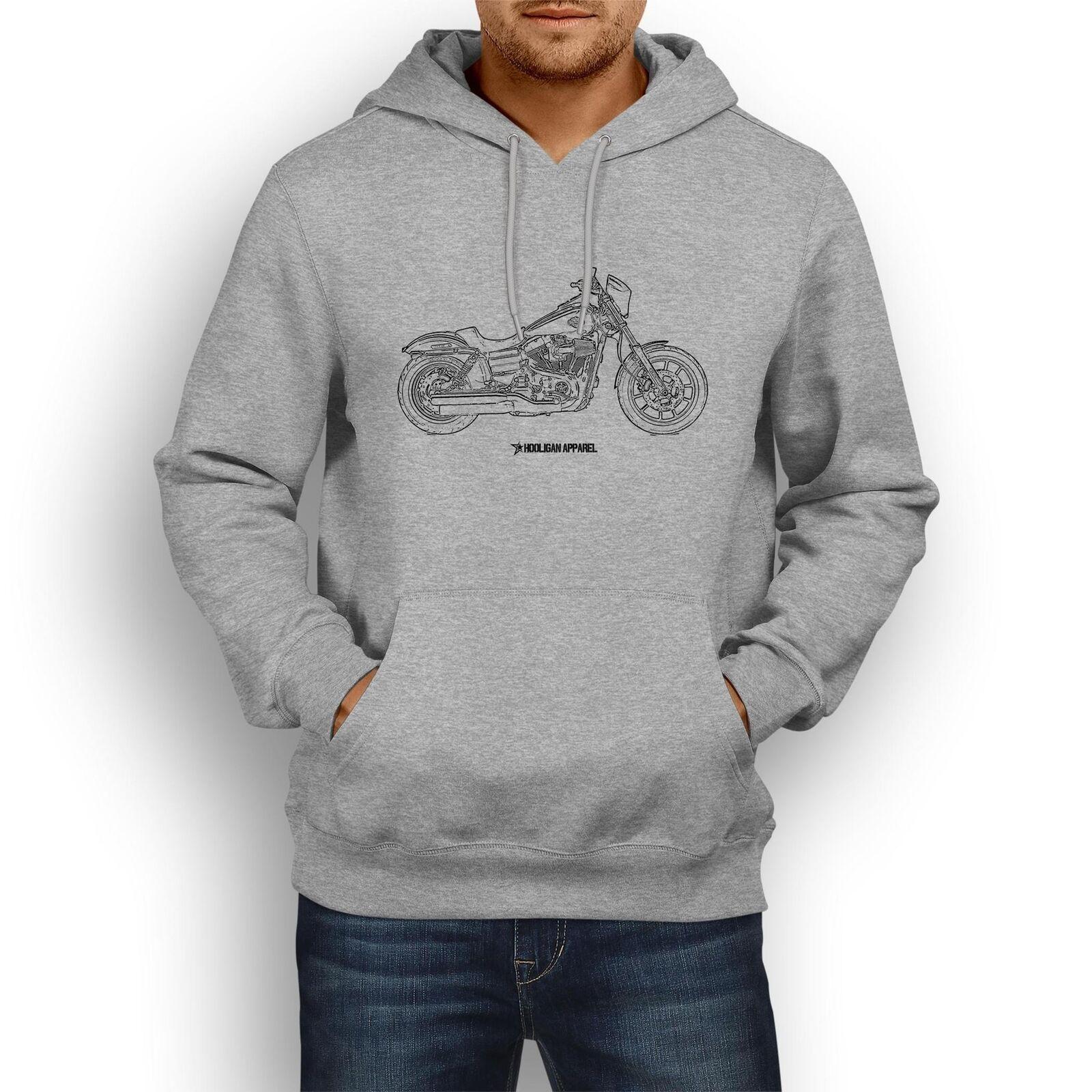 Harley Davidson Niedrig Rider InspiROT Motorcycle Art Men's Hoodie