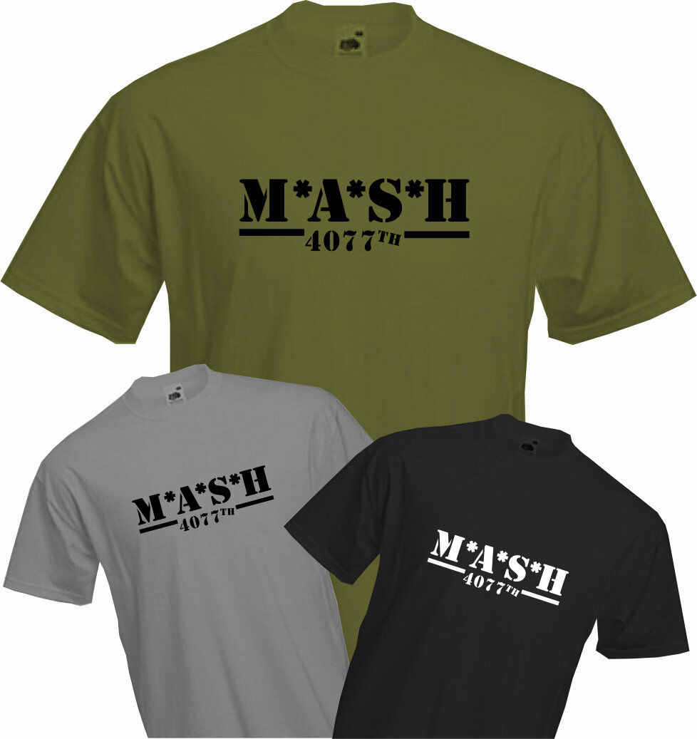 M*A*S*H 4077TH - T Shirt, MASH TV Series, US Army Military, Fun, Retro  Cool, NEW