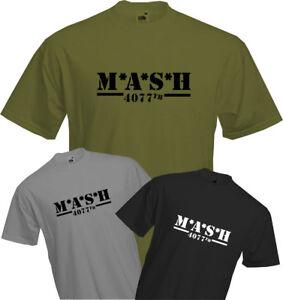 M-A-S-H-4077TH-T-Shirt-MASH-TV-Series-US-Army-Military-Fun-Retro-Cool-NEW