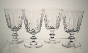 NELSON-CLAPPERTON-CRYSTAL-Water-Goblets-5-1-4-034-SET-of-FOUR