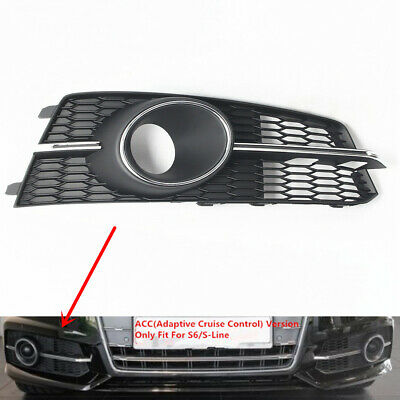 Front ACC Cover Grille For AUDI A6 S6 S-Line C7 4G Pair Adaptive Cruise Control