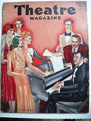 "Expressive Vintage Jan.1930 Theatre Magazine W/cover Titled June Moon By ""andre Durencea"" * Theater Memorabilia"