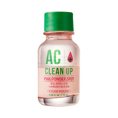 Etude House AC Clean Up Pink Powder Spot Care 15ml Acne Pimple Blemishes Trouble
