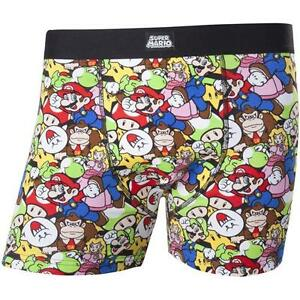 Nintendo-Mario-And-Friends-Cotton-Boxer-Shorts-New-amp-Official-With-Tag