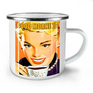 Good Morning Coffee NEW Enamel Tea Mug 10 oz | Wellcoda