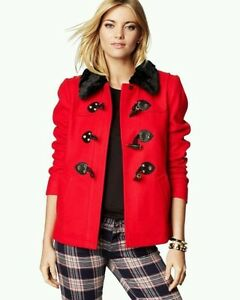 NWOT-JUICY-COUTURE-RED-WOOL-SHORT-SWING-TOGGLE-COAT-JACKET-SIZE-XS