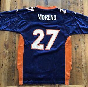 Denver-Broncos-27-Moreno-Jersey-Youth-Size-Large-14-16-NFL-On-Field-Reebok-Blue