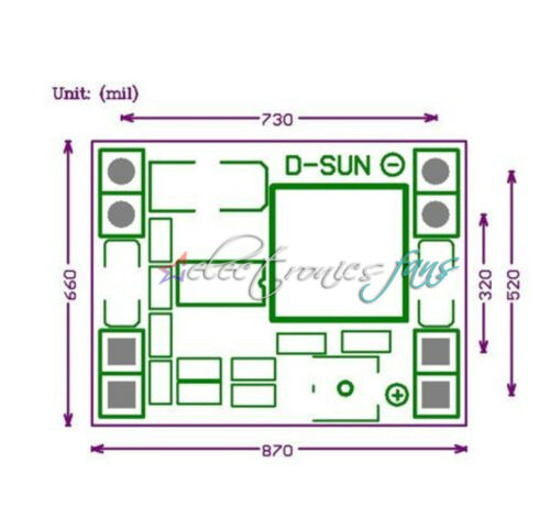 10PCS Mini 3A DC-DC Converter Step Down Module Adjustable 3V 5V 16V für RC