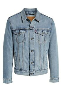 Levi-039-s-Men-039-s-Cotton-Button-Up-Denim-Jeans-Trucker-Jacket-Light-Blue-723340232