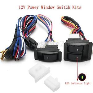 12v universal car suv power window glass lift switch kits. Black Bedroom Furniture Sets. Home Design Ideas