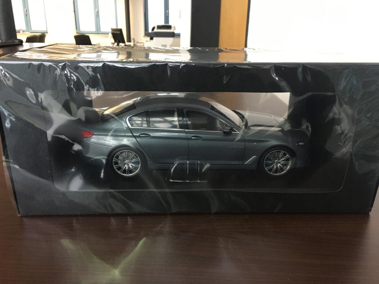 ORIGINALE miniatura BMW 5er g30 Bluestone METALLIZZATO 1:18 NUOVO OVP