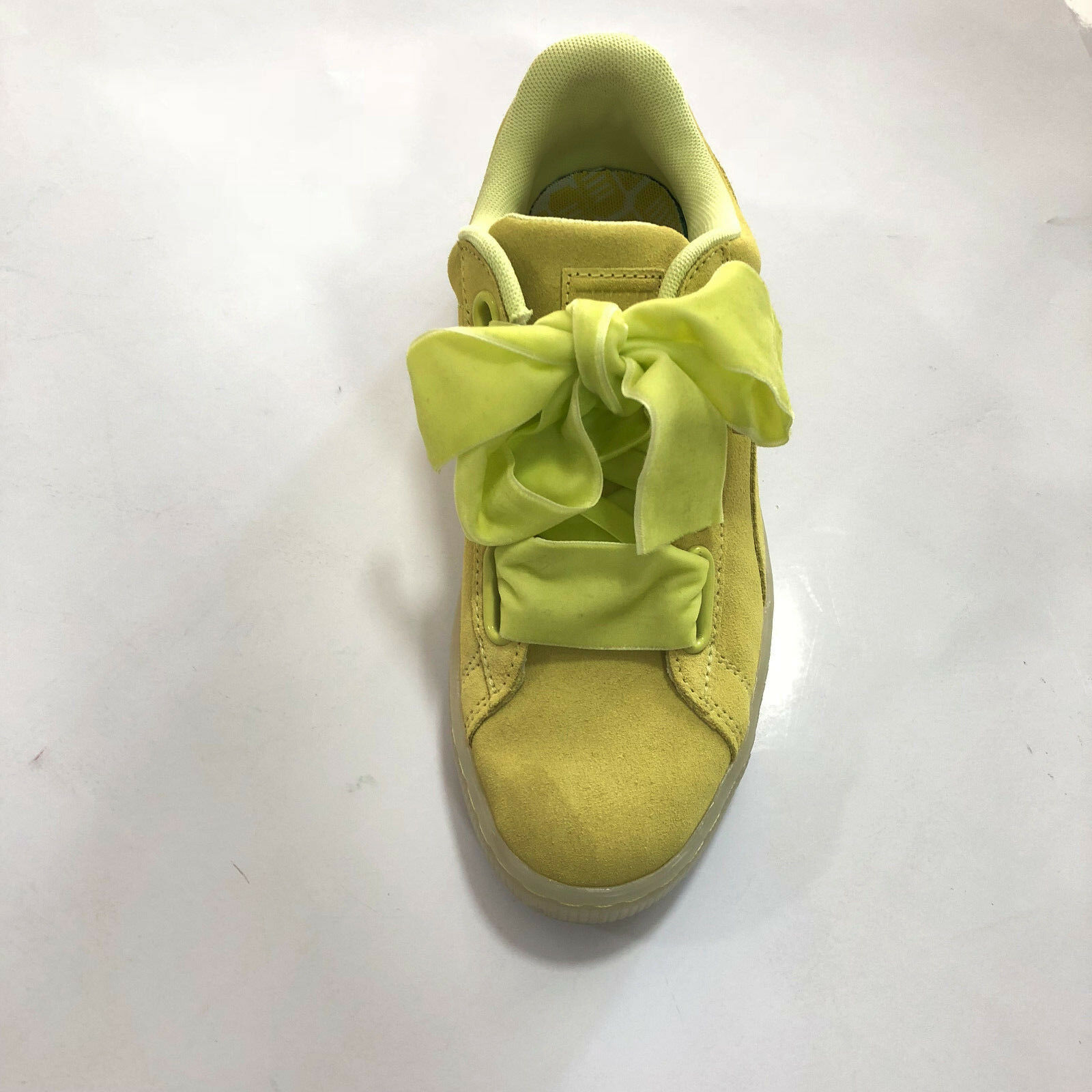 Zapatos Puma mujer SCONTATE   Suede Heart Reset - Limoncello - 363229
