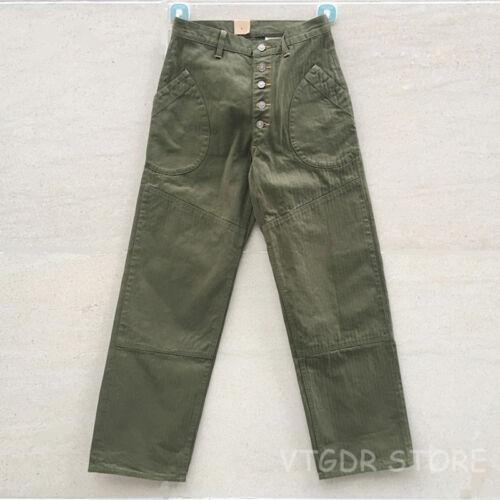 Bob Dong OG-107 HBT Pants Selvage Vintage N-1D Pocket Casual Trouser For Men