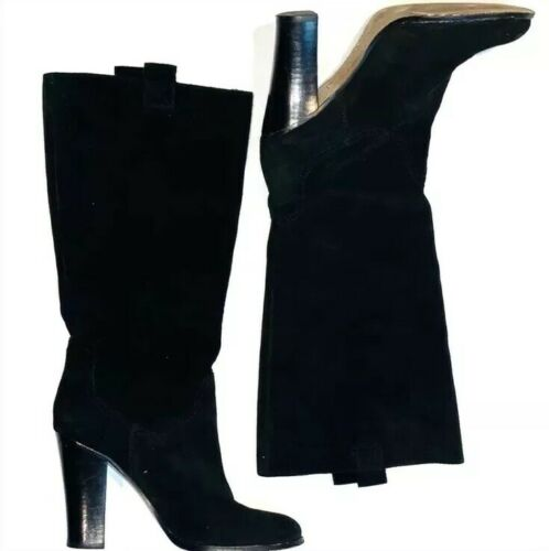 Boutique 9 by Belinda -Black Suede BELINDA Knee Hi