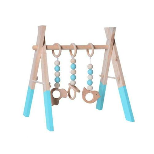 Baby Foldable Play Gym Baby Activity Gym Frame Living Baby Bedroom Decor Wooden