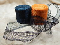 3 Sinamay Ribbon Halloween Crafts Wreaths 20yd 1 Black 1 Orange Make Hats Too
