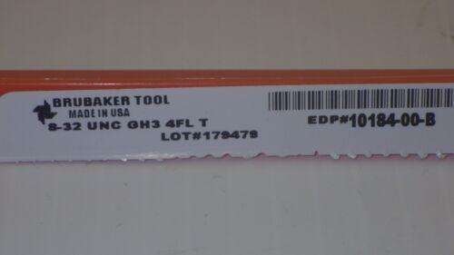 NIB BRUBAKER TOOL 8-32 UNC GH3 4FL-T TAP