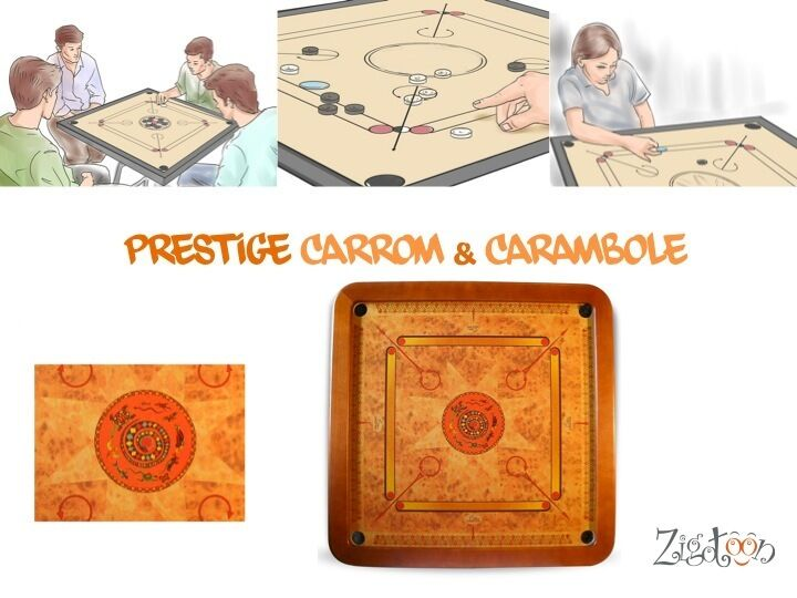 Large Indian billiard 70 cm Luxury Wooden game Carrom, Carambole