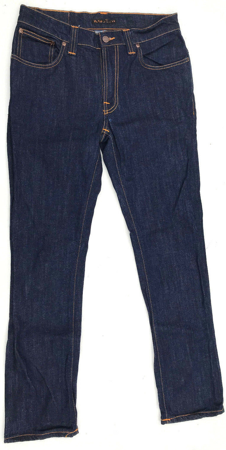 Nudie Jeans One Off 'SAMPLE' Organic Indigo Jeans W29 L29 AU11 NEW Womens Girls