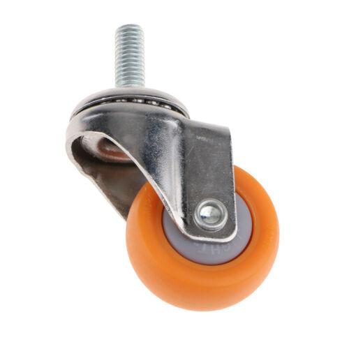 geeignet für Industrie M8 Lenkrollen Transportrollen Schwerlastrollen