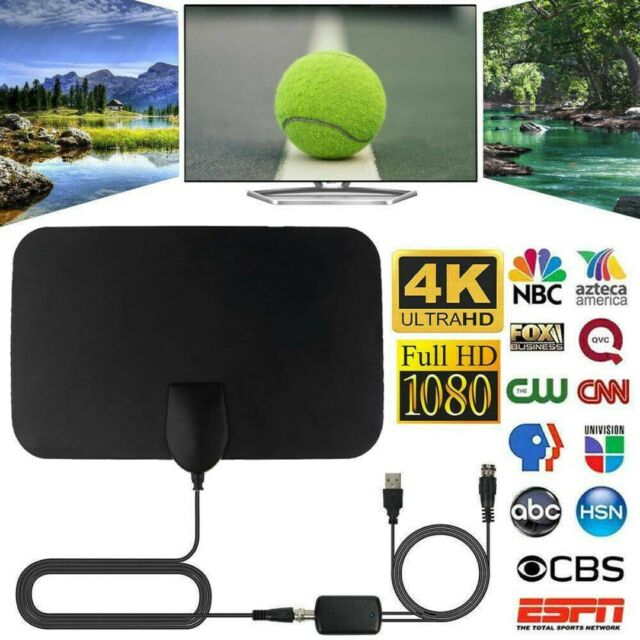 Indoor Digital TV Antenna 960 Mile Aerial Signal Amplified 4K HDTV HD Freeview