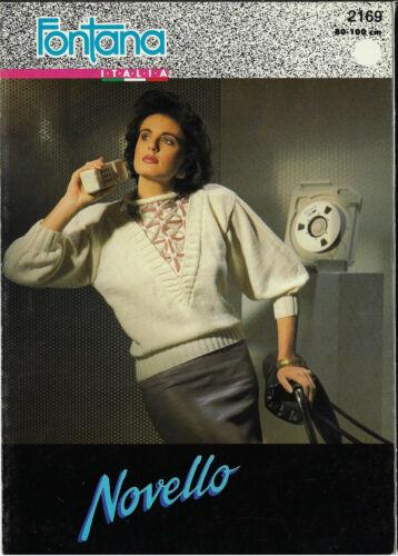 Women/'s Cord Yoke Sweater Fontana 2169 knitting pattern DK 8 ply yarn