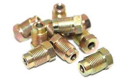 """Brake Pipe Nuts Qty 10 Pack Male M10 10mm x 1.0mm Short Nut 3//16/"""" Copper BPN7"""