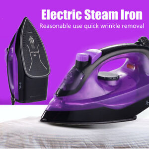 Image Is Loading 1400w Portable Handheld Electric Steam Iron Ceramic Soleplate