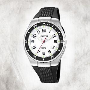 Calypso-Plastic-Pure-Men-039-s-Watch-K6063-3-Wristwatch-Black-Analogico-UK6063-3