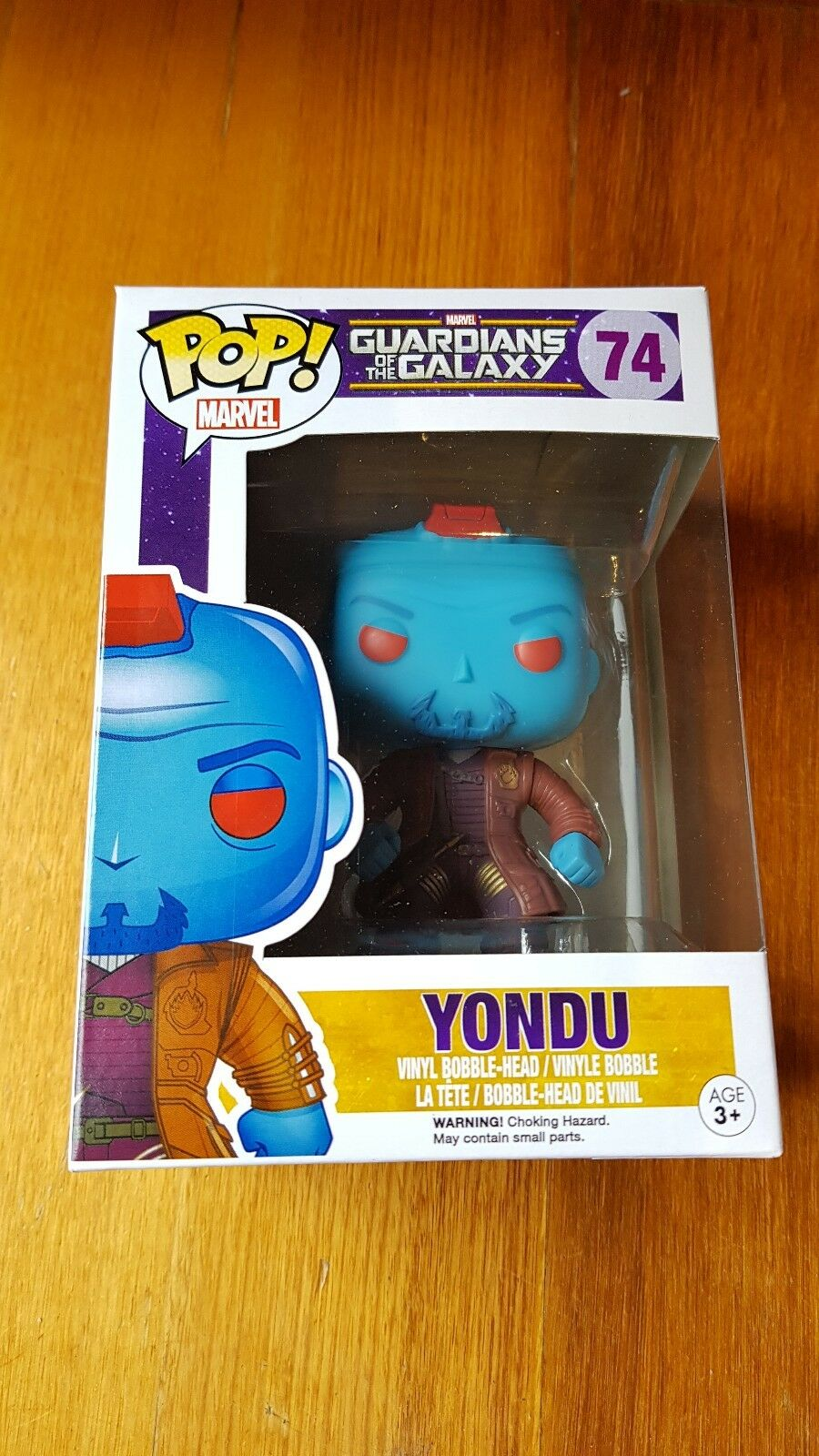 RARE VAULTED FUNKO POP VINYL GUARDIANS OF THE GALAXY YONDU  74 WITH ProssoECTION