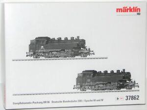 Marklin-H0-37862-Boite-Vide-le-Locomotive-a-Vapeur-Double-Pack-Br-86-Neuf