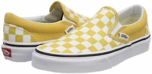a23b251acb17e5 Image is loading Vans-Checkerboard-Ochre-Yellow-Check-Classic-Slip-On-