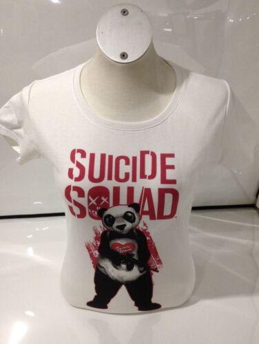 Suicide Squad Ladies Panda T-shirt White XL