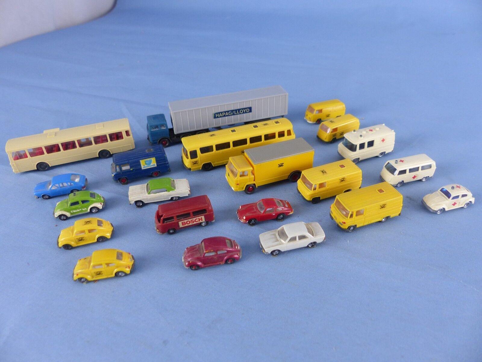 WIre lot de 21 vehicules 1160 ech  N pour décor train électrique ou diorama