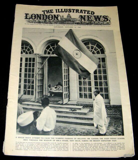 MAHATMA GANDHI 1948 FAST AGAINST VIOLENCE PHOTO FEATURE ...